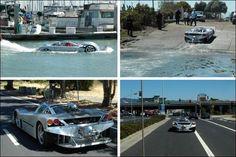 Découvrez le projet Sea Lion :  la voiture amphibie la plus rapide du monde ! Pour un peu plus de 200.000 €, cet engin futuriste pourra vous emmener à plus de 200 Km/h sur la route et près de 100 Km/h sur l'eau, pas mal !!