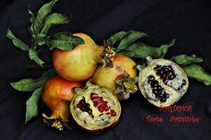 Gumpaste Pomegranate Branch tutorial - by Tortova @ CakesDecor.com - cake decorating website