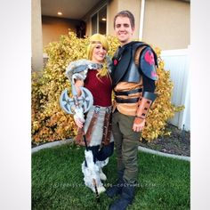 Awesome Astrid and Hiccup Couples Costume... Coolest Halloween Costume Contest