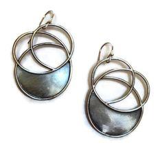 Julia Britell Jewelry - Flat Spiral Earrings