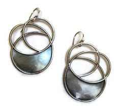 Julia Britell Jewelry - Flat Spiral Earrings