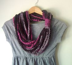 Pink Scarf Necklace .. Hot Pink Scarf .. Bright Pink by DottieQ, $26.00