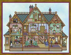 "Joan Elliott ""Victorian Dollhouse"" cross stitch chart"
