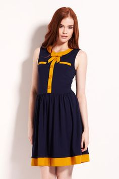 Colourblock Tipped Dress