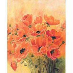 Image 3D Fleur - Bouquet de coquelicots 24 x 30 cm