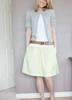 Cute spring outfit! So many possibilities!