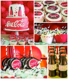 Coca - Cola themed Tween birthday party with Such Cute Ideas via kara's party ideas! full of decorating ideas, dessert, cake, cupcakes, favors and more! KarasPartyIdeas.com #cocacola #cokeparty #tweenparty #partystyling #partyplanning #eventstyling #cocacolaparty #partyideas (2)