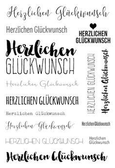 """Klartext Stempelset """"Glückwunsch"""" zum Kartenkit April 2016 von www.danipeuss.de #dpaprilkit16 #danipeuss #kartenkit #stempeln #klartext"""