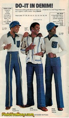 The bell bottom pants became popular in the late and continued to widen into the as they gained in popularity. This was a time wh. 70s Black Fashion, 70s Fashion Men, Fashion Fail, Retro Fashion, Bell Bottom Pants Mens, Fashion Design Portfolio, Look Vintage, Denim Outfit, New Outfits