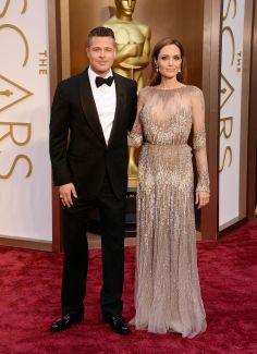 2014 Oscars Red Carpet Looks | Brad Pitt and Angelina Jolie
