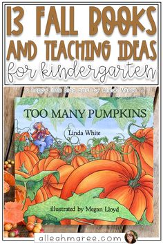 13 Fall Books with Teaching Ideas for Kindergarten — Alleah Maree These cozy fall books for kids are perfect to read to kindergarten or preschool students to teach a variety of literacy skills! Click through to check out this unique list of amazing books. Preschool Books, Kindergarten Activities, Book Activities, Preschool Printables, Language Activities, Good Books, Amazing Books, Children's Books, Fall Books
