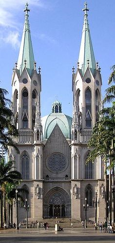"Catedral da Sé, São Paulo, Brazil. The São Paulo See Metropolitan Cathedral --""See"" and ""cathedra"" mean ""seat"" and therefore the ecclesiastical authority of a bishop or archbishop is the cathedral of the Roman Catholic Archdiocese of São Paulo, Brazil."