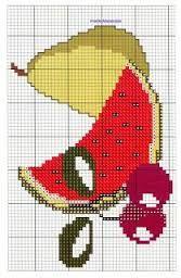 Resultado de imagem para frutas em ponto cruz graficos