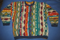 Cosby sweater $174.99 (is it real or fake? hmmm collar/cuffs are awfully plain for a Coogi)