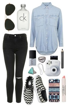 Untitled #187 by clary94 on Polyvore featuring Topshop, Vans, BlissfulCASE, Ray-Ban, Burberry, Calvin Klein and NARS Cosmetics