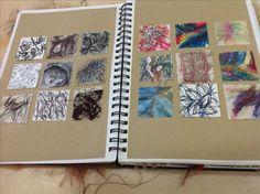 A level sketchbook, textiles sketchbook, sketchbook layout, sketchbook idea Art Lessons, Gcse Art Sketchbook, Mark Making, Drawings, Art, Sketchbook Journaling, Art Journal, Book Art, Art Portfolio