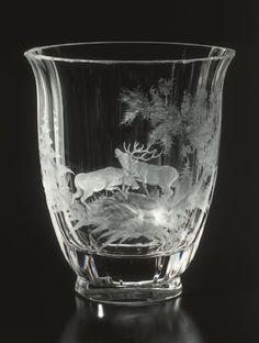 Moser glass.Vase