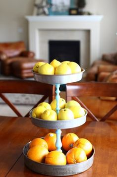 Cake pans and candle sticks, easy DIY project!