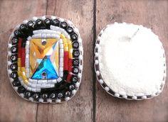 NEW Native American Beaded Jewel Post Earrings by OraLouiseJewelry, $60.00