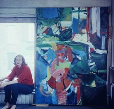 New Jersey-born artist Grace Hartigan studied mechanical drafting at an engineering school before making her entry into the art world. While working as a draftsman in a factory, she studied painting and fell in love with Matisse. She made her way to New York City, embracing the movement alongside Pollock and De Kooning.