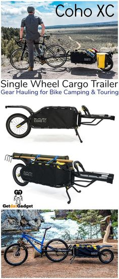 The Coho XC single wheel cargo trailer brings durability and thoughtful design to gear-hauling for bike camping, touring and singletrack riding. The post Coho XC: Hauling Gear for Bikepacking and Touring Made Easy appeared first on Trendy. Backpacking Gear, Camping Survival, Hiking Gear, Camping Gear, Backpack Camping, Camping Gadgets, Survival Gear, Mtb, Cargo Trailers