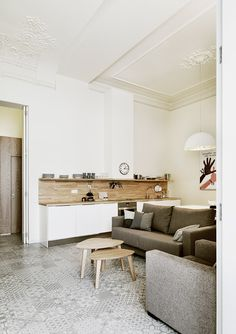Grey and White Interior