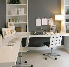 l shaped desk ikea Home Office Modern with modern office #Modernhomeoffices