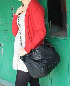 Large Leather The Sak Shoulder Bag - Black $39.97