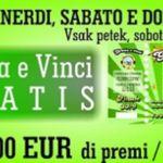 """Tutti i weekend, fino al 30 settembre 2017, al Grand Casino Lipica ad ogni ingresso verrà distribuito un """"Gratta e Vinci"""" gratis. Primo premio: 11mila euro."""