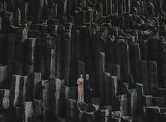 basalt columns - Unearthly and Dramatic Iceland Wedding / Maja + Patrick - Utterly Engaged