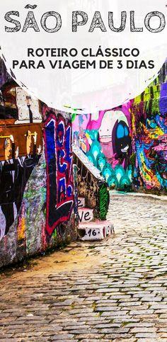 São Paulo: Roteiro de viagem para três dias na maior cidade brasileira. Descubra as principais atrações e pontos turísticos do Centro, Avenida Paulista, Vila Madalena e Pinheiros.
