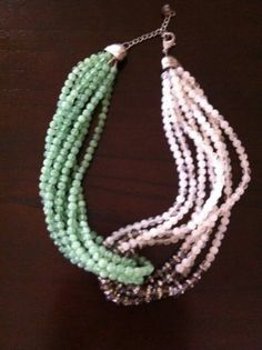 Anthropologie Two Tone Necklace Nice! on Ebay Free shipping!