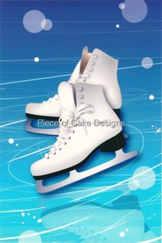 1/4 Sheet ~ Winter Ice Skates ~ Edible Image Cake/Cupcake Topper!!! > Discover this special deal, click the image : Baking decorations