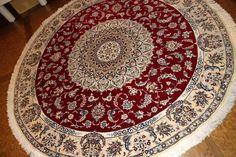 丸い絨毯、円形手織りペルシャ絨毯36557