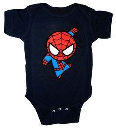 ce2e0860da0 Amazon.com  Spider-Man Avengers Webcrawler Marvel Comics Baby Creeper Romper  Snapsuit