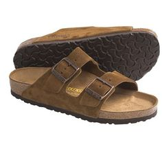 Birkenstock Arizona Suede Sandals (For Men and Women) in Brown Suede....my go to sandals...so comfy. Sometimes you'll even find these at flea markets or vintage stores, like mine, for much cheaper than they normally retail for.