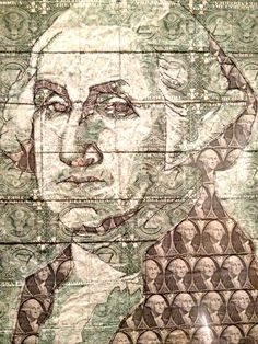 It's all about the washingtons! Amazing portrait of George Washington in dollar bills