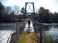 Sable River Swinging Bridge (Foot Bridge) - explore a beautiful trail system along the Tom Tigney River which includes Nova Scotia's only suspension bridge.