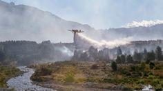Piedra On Line.-: No cede el incendio en el Parque Los Alerces