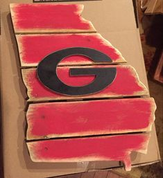 Wooden pallet board state of Georgia with by kathyleeskreations
