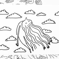 The doodle that inspired 'Arm Hair'. It's an oldie but a goodie. by beckymsimps