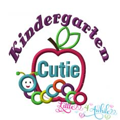 Kindergarten Cutie Applique Design