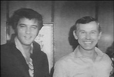 Elvis Presley with Entertainer Johnny Carson
