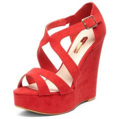 cross front high wedges