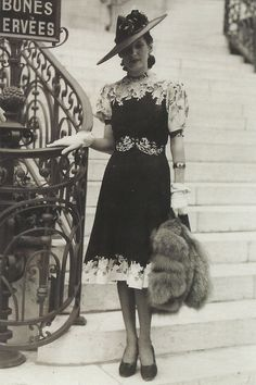 Stylish outfit, early 1940s France