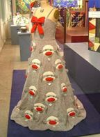 A dress made of sock monkeys? Okay, then. This is weird, even for me!