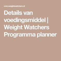 Details van voedingsmiddel | Weight Watchers Programma planner