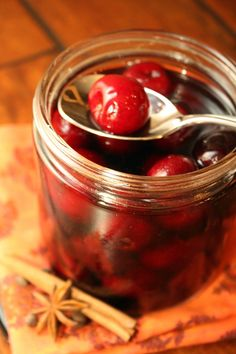 DIY Cocktail Cherries from @Nicole White of The Marvelous Misadventures of a Foodie #CherryOXO