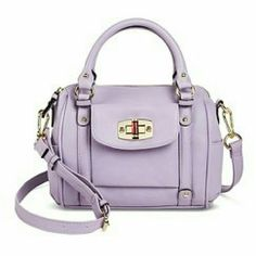 Purple mini Satchel Handbag Used once and in neat condition. Need to get rid of it! Merona Bags Satchels