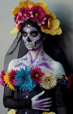 Catrina Beautiful Don't you think? Halloween 2017, Halloween Cosplay, Halloween Make Up, Halloween Costumes, Sugar Scull, Sugar Skull Art, Day Of The Dead Party, Dead Makeup, Sugar Skull Makeup